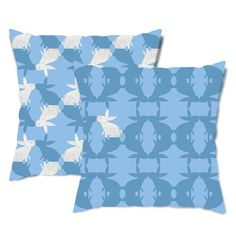 White Bunny Rabbit Throw Pillow