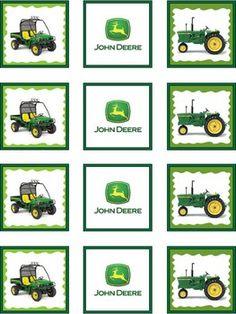 John Deere, John Deere, Stickers - Free Printable Ideas from Family Shoppingbag.com