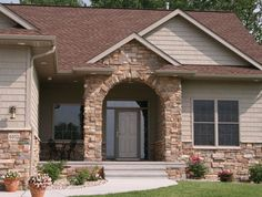 cast stone from Menards, front entry idea
