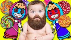 BEARDED BABY CRY Learn Colors with Lollipops | FINGER FAMILY Video For K...