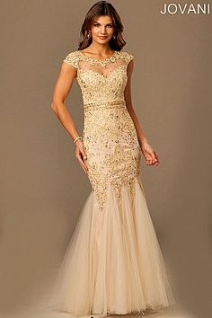 Lace Trumpet Mother of the Bride Dress 98608