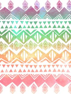Tribal Sunrise Art Print By SchatziBrown #tribal #pattern #ombre