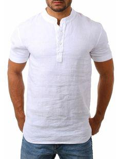 Mens Beach Shirts, Cheap Mens Shirts, Summer Shirts, Blue Khakis, Henley Shirts, Men's Shirts, Jean Shirts, Collar Styles, Shirt Style