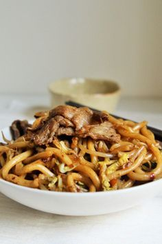 Stir-Fry Beef Udon Noodles {Japanese Yakiudon} – The Tasty Bite