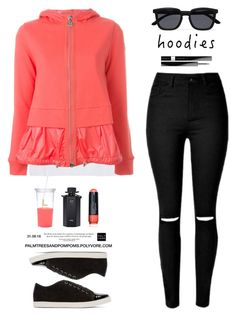 """""""Heads Up! Cute Hoodies / Moncler layered hoodie"""" by palmtreesandpompoms ❤ liked on Polyvore featuring LnA, Lanvin, Givenchy, Gucci, Le Specs, Moncler, Smashbox, Kate Spade, Hoodies and farfetch"""
