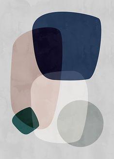Graphic 190 Mini Art Print by Mareike BaPhmer - Without Stand - x Graffiti Art, Modern Art Prints, Framed Art Prints, Canvas Prints, Art Encadrée, Art Mural, Kunst Poster, Mid Century Art, Art Moderne