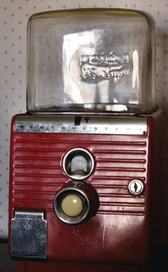 This vintage penny gumball machine was made by the Northwestern Company