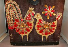 """Vintage 1967 Enid Collins Signed """"Birds of a Feather"""" Jeweled Handbag/Purse!"""
