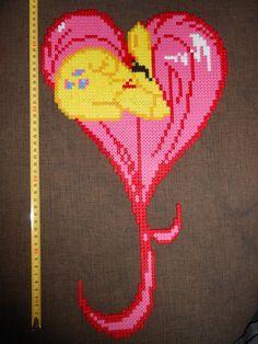 Fluttershy MLP hama perler by CloseEnuogh on deviantart