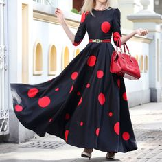Red Polka Dot Dress ~ The Cool Wishlist