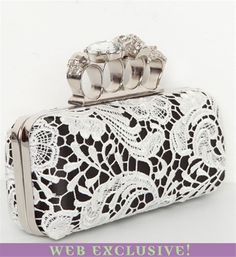"""Love the """"brass knuckles"""" and the lace and the black.  And only $29.90"""