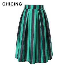Vintage Vertical Striped Printed Ball Gown Midi Skirt  Only $22.99 => Save up to 60% and Free Shipping => Order Now!  #Skirt outfits #Skirt steak #Skirt pattern #Skirt diy #skater Skirt #midi Skirt #tulle Skirt #maxi Skirt #pencil Skirt