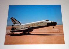16x20 NASA Columbia Touching Down Space Shuttle Wall Decor Art Print Poster