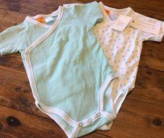 2 X Pumpkin Patch Size 00 Bodysuits Onesie Romper Brand New With Tags Baby Boy