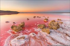 Lago Koyashskoye es un lago de sal ubicado en la Península de Kerch, en Crimea, Ucrania
