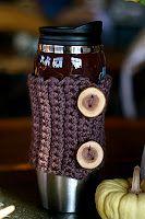 Free Knitting or Crochet Pattern Tutorial: Coffee Cozy
