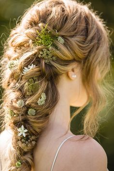 flower accented wedding hair - April 13 2019 at Braided Hairstyles, Cool Hairstyles, Fairy Hairstyles, Fantasy Hairstyles, Hairstyles 2016, Face Shape Hairstyles, Trending Hairstyles, Fall Hair, Hair Looks