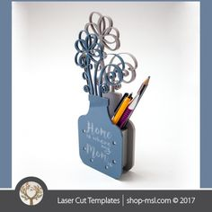 Product Laser cut flower pot template, use it for pencils, act. 3 different inner sizes. download free Vector designs every day @ shop-msl.com