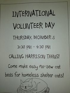 Teens come to our volunteer day event at Harrison Public Library.