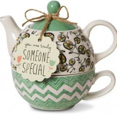 Pavilion Gift Company 74072 Bloom Someone Special Ceramic Tea for One, 15 oz, Multicolor Special Text, Tea For One, Tea Pot Set, Teapots And Cups, Ceramic Teapots, Unique Christmas Gifts, Chocolate Pots, Tea Accessories, Tea Ceremony