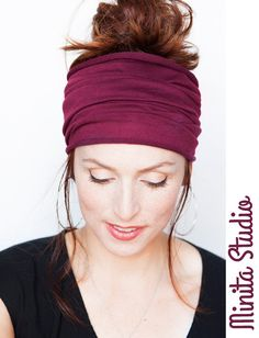 Magenta Headband - Wide Headband Yoga Headband Boho Headband Running  Headband Womens Hair Accessories Large Headwrap Hair Thinning Headband in  2018  c39aa33efad