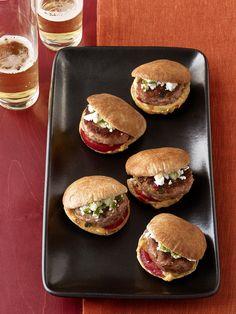 Turkey-Hummus Sliders Recipe : Food Network Kitchens : Food Network - FoodNetwork.com