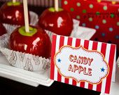 camdy and carmel apples for sure!