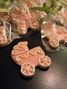 Gorgeous cookies as baby shower favors!!