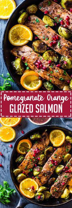 Pomegranate Orange Glazed Salmon