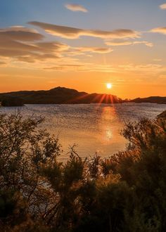 Kirkaig at sunset, Assynt, Sutherland, Scotland.