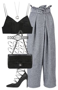 """""""Untitled #3494"""" by lily-tubman ❤ liked on Polyvore featuring STELLA McCARTNEY, Alexander Wang, Chanel, Yves Saint Laurent, ASOS, Marc by Marc Jacobs and Elsa Peretti"""