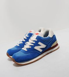 New Balance 574 70s - Blue/White, Red
