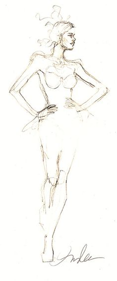 Fashion Sketch - fashion design drawing; fashion illustration // Inslee Haynes