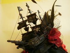Pirate Black Gothic Galleon Ship Fascinator Hairpiece