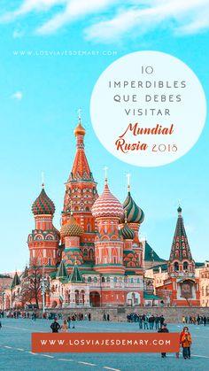 Aquí les dejo 10 imperdibles que debes visitar si vas al Mundial en #Rusia2018 y las ciudades que serán las cedes en esta Copa Mundial de la #FIFA.  #Rusia #quévisitar #Russia #Mundial2018