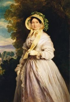 Grand Duchess Anna Feodorovna (born Princess Juliane of Saxe-Coburg-Saalfeld) by Franz Xavier Winterhalter (Royal Collection), 1848.