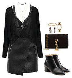 """""""Outfit"""" by caa123 ❤ liked on Polyvore featuring Étoile Isabel Marant, Topshop, Sergio Rossi, Charlotte Russe, Yves Saint Laurent, Marc by Marc Jacobs and Cartier"""