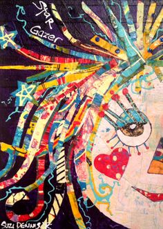 Star Gazer by Suzi Dennis - Mixed Media Collage