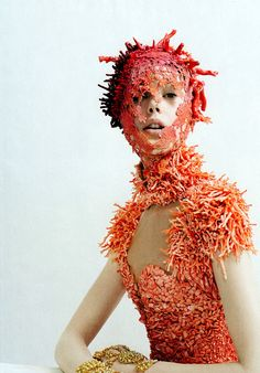 I used to sketch and dream of actual coral being used in couture, never could I have imagined something so unique.