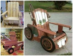 DIY Tow Mater Adirondack Chair