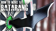 "How to make a Batarang like ""The Dark Knight"" So you want to be a superhero, do you?  In this video you'll see how to up-cycle a junk table-saw blade, into a real life batarang. http://youtu.be/SkGIr2qUz-4"