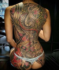 I love Beautiful Tattoos , The Japanese style is my favorite. Working on my own body suit, so some of the photos are of my Tattoos. I try to post here some of the best Tattoos in the world and sometimes I post a things I find interesting. Tattoo Girls, Back Tattoo Women, Girl Tattoos, Tattoos For Women, Tatoos, Tatto Ink, Backpiece Tattoo, Tattoo Art, Tattoo Mafia