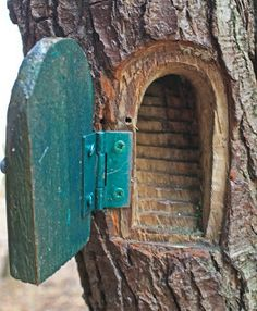 Would love to make one of these in an old tree that has an opening...