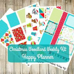 HAPPY Planner Christmas Weekly Kit- Woodland Animals Winter by WhimsicalWende on Etsy