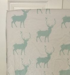 Hey, I found this really awesome Etsy listing at https://www.etsy.com/listing/210396893/changing-pad-cover-mint-deer