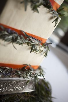 Lavender Buttercream Cake, Illinois Forest Wedding on Style Me Pretty by Laura Fisher Photography, laura-fisher-photography.com