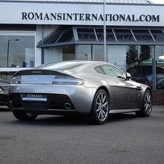 Aston Martin V8 Vantage S in Tungsten Silver - Still one of the best looking cars out there! That V8 sounds glorious too! #AstonMartin #v8vantageS #aston