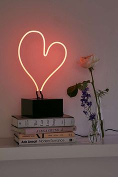 Neon Heart Table Lamp