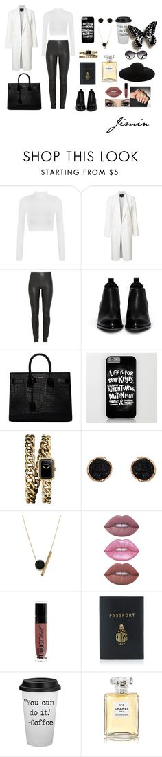 """""""Airport: Jimin"""" by misconceptionsofus ❤ liked on Polyvore featuring WearAll, Alexander Wang, By Malene Birger, Yves Saint Laurent, Chanel, Humble Chic, Kakao By K, Lime Crime, Wet n Wild and Mark Cross"""