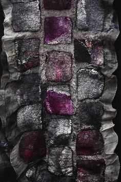 Purple Haze hand dyed/hand felted silk organza merino wool